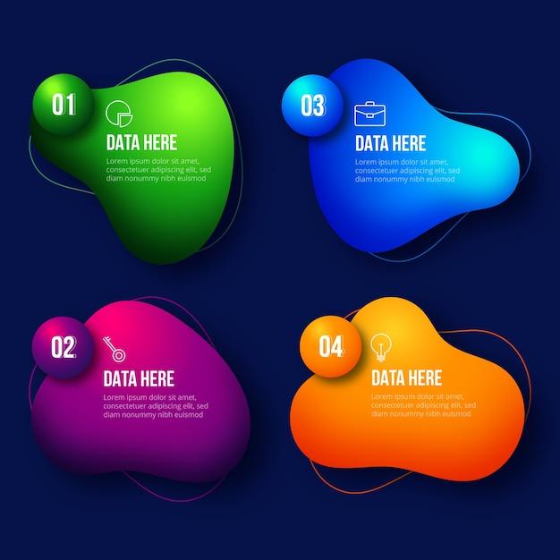 Infographic met gradiënt abstracte vormen Gratis Vector