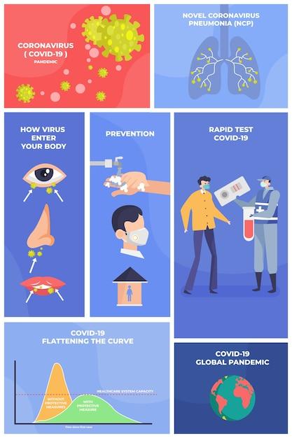 Infographic met pictogrammen en tekst om onszelf te beschermen Gratis Vector