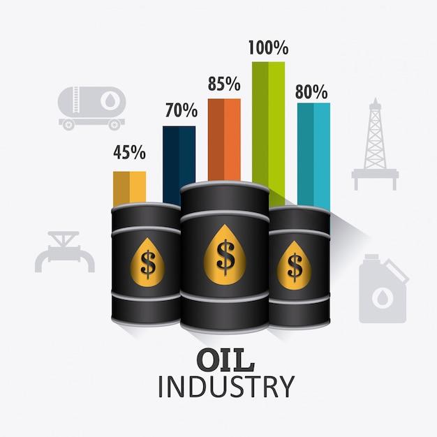 Infographic ontwerp van de olie- en aardolie-industrie Gratis Vector
