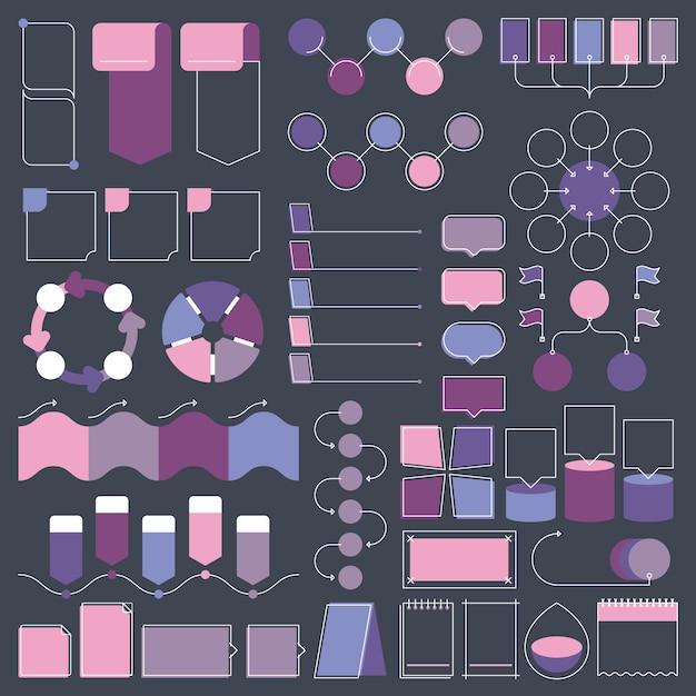 Infographic ontwerpelementen collectie Premium Vector