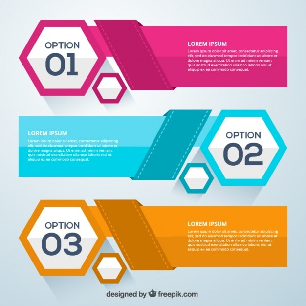 Infographic opties elementen Gratis Vector