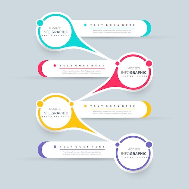 Infographic presentatieontwerp Gratis Vector