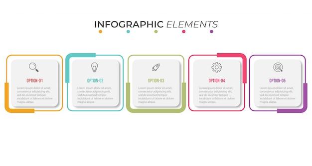 Infographic presentatiesjabloon Premium Vector