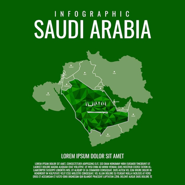Infographic saoedi-arabië Premium Vector