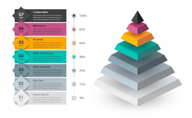 Infographic sjabloon Premium Vector