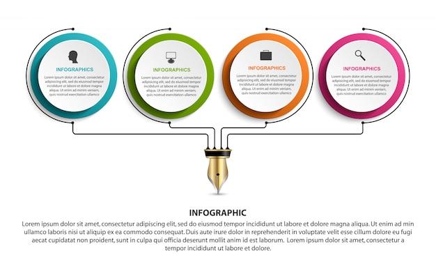 Infographic sjabloon. Premium Vector