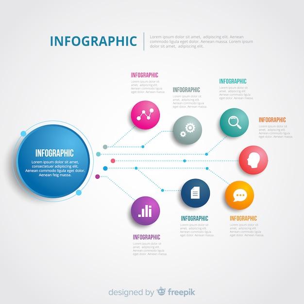 Infographic sjabloon Gratis Vector