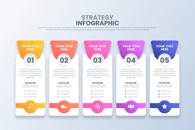 Infographic strategie Gratis Vector