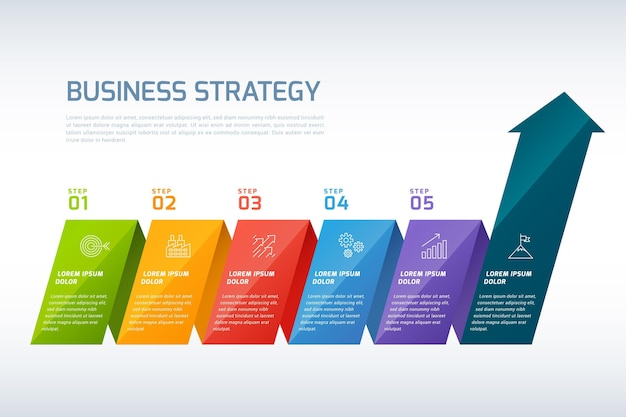 Infographic strategie Gratis Vector