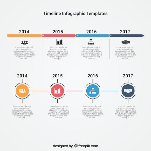 Infographic Tijdlijn Template Vector Gratis Download