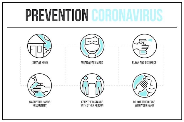 Infographic van coronaviruspreventie Gratis Vector