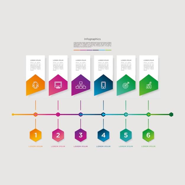 Infographic vector grafische sjabloon downloaden modern Premium Vector