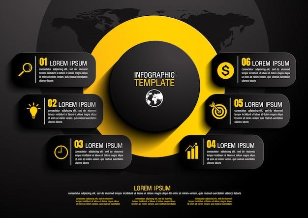 Infographic vectorillustratie Premium Vector