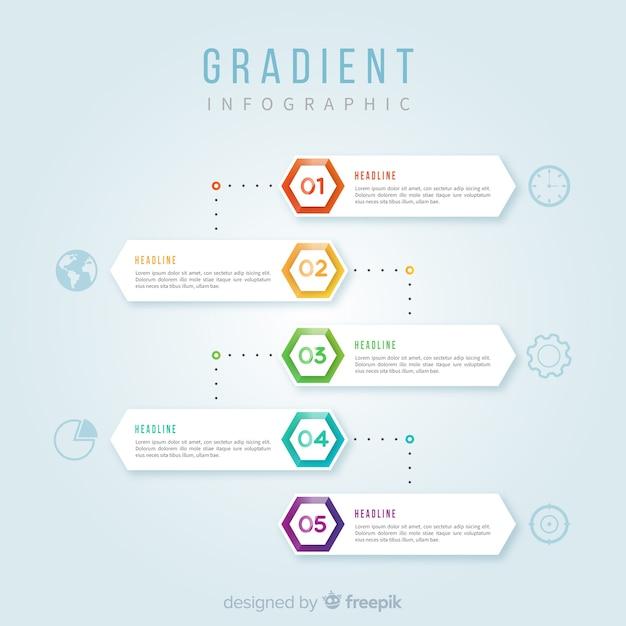 Infographic verloop Gratis Vector
