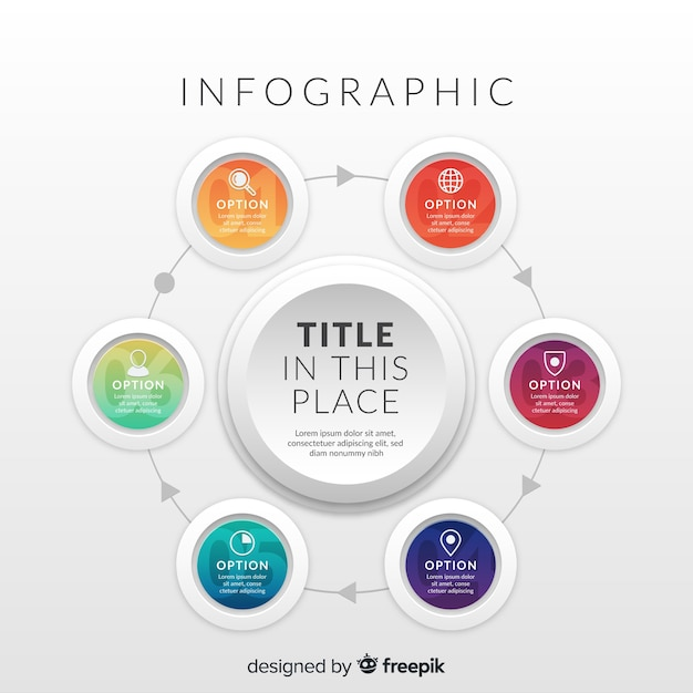 Infographic verloop Gratis Vector
