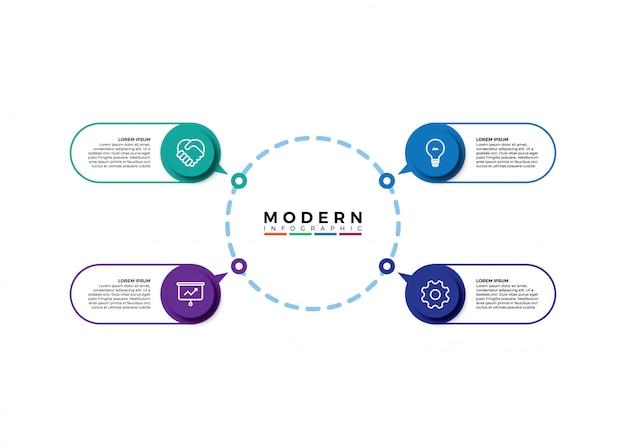 Infographic visualisatie van zakelijke gegevens Premium Vector