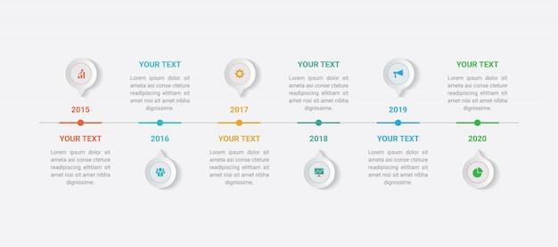 Infographic zakelijke sjabloon Premium Vector