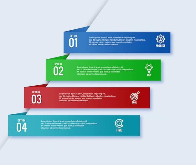 Infographic zakelijke sjabloonontwerp spandoek Gratis Vector