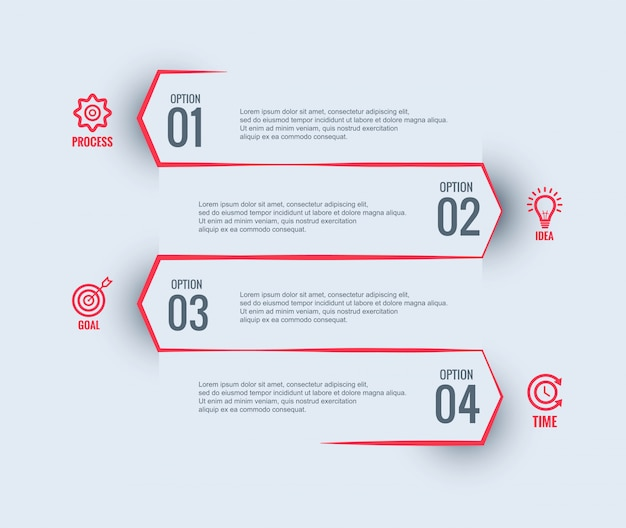 Infographic zakelijke sjabloonontwerp Gratis Vector