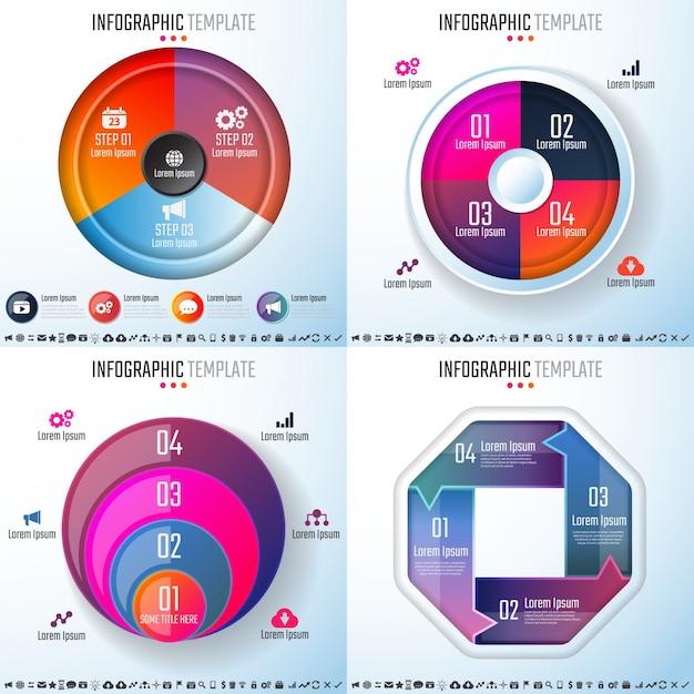 Infographics design template Gratis Vector