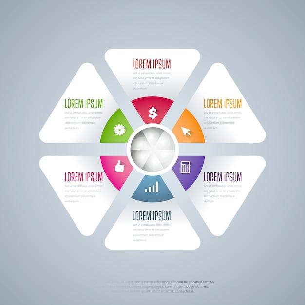 Infographics elementen vector sjabloon Premium Vector