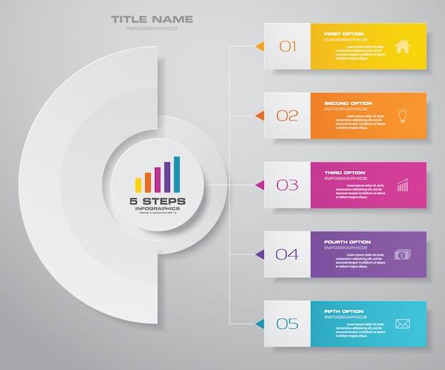 Infographics grafiek ontwerpelement Premium Vector