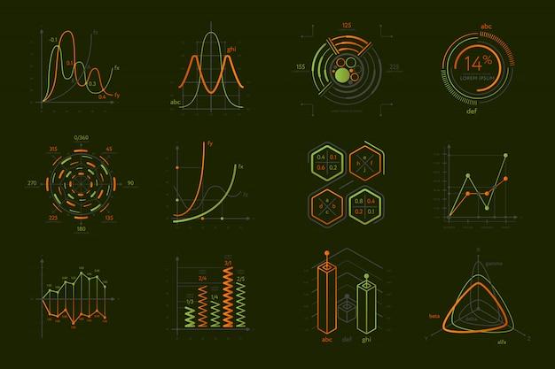 Infographics instellen voor bedrijfspresentatie Premium Vector