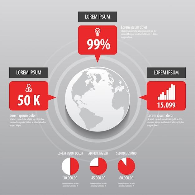 Infographics ontwerp Premium Vector