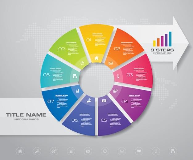 Infographics ontwerpelement. Premium Vector