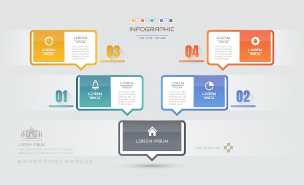 Infographics ontwerpsjabloon met pictogrammen Premium Vector