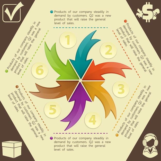 Infographics ontwerpsjabloon Premium Vector