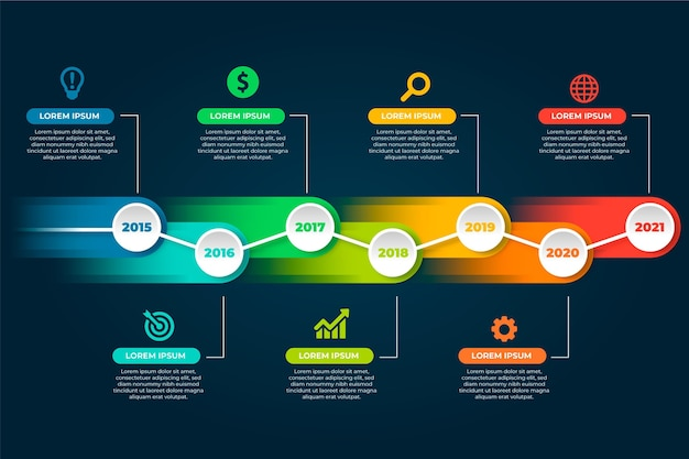 Infographics pack template thema Gratis Vector