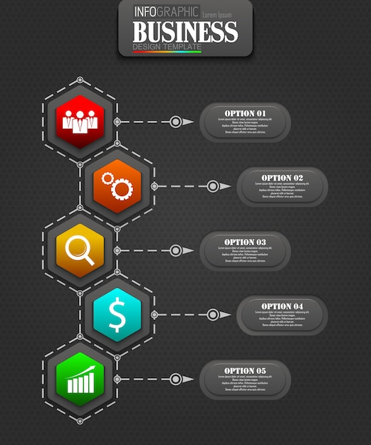 Infographics sjabloon bedrijfsconcept Premium Vector