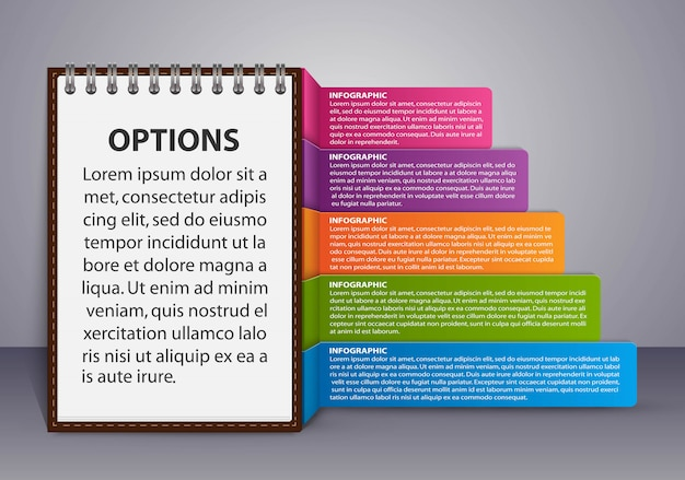 Infographics sjabloon voor zakelijke presentaties. Premium Vector
