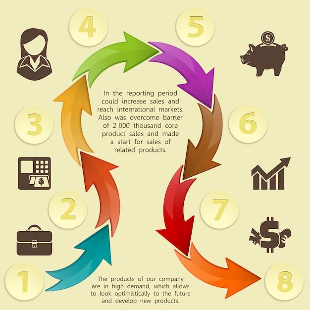 Infographics sjabloon Premium Vector