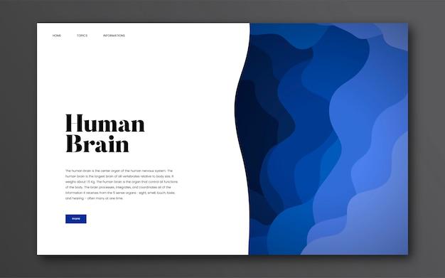 Informatie over de menselijke hersenen grafische informatie Gratis Vector