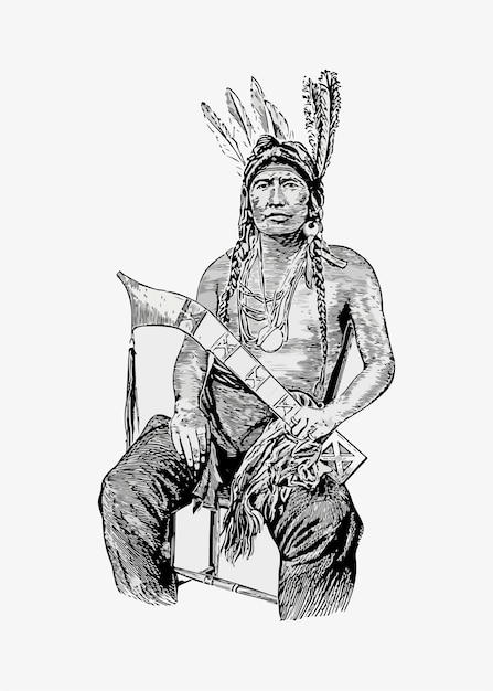 Inheemse amerikaanse man Gratis Vector