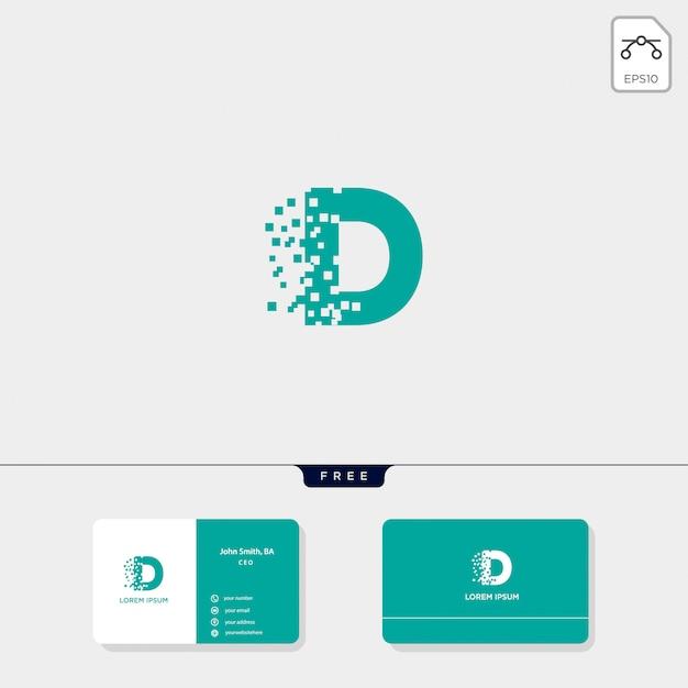 Initiële d-logo sjabloon, visitekaartje ontwerpsjabloon omvatten Premium Vector
