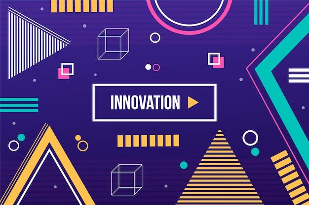 Innovatiesjabloon met geometrische vormenachtergrond Gratis Vector