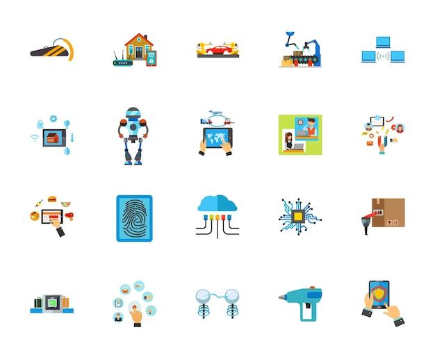 Innovatieve technologie icon set Gratis Vector