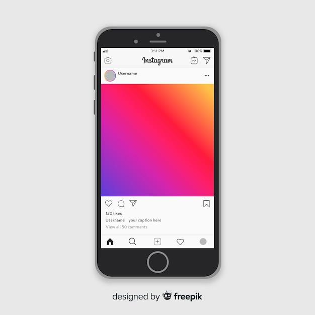 Instagram fotolijst-sjabloon Gratis Vector