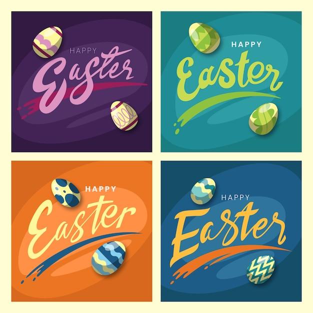 Instagram-postverzameling met sportieve eieren Gratis Vector