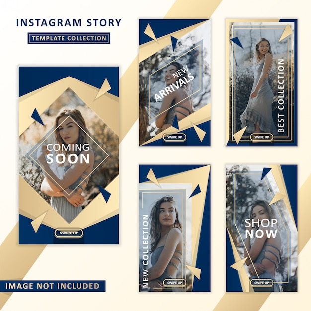 Instagram verhaalsjabloon collectie Premium Vector