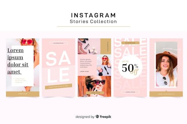 Instagram verhalen sjabloon Gratis Vector