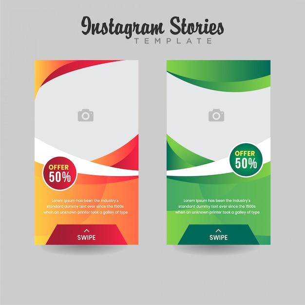 Instagram verhalen verkoop sjabloon verloop ontwerp premium vector Premium Vector