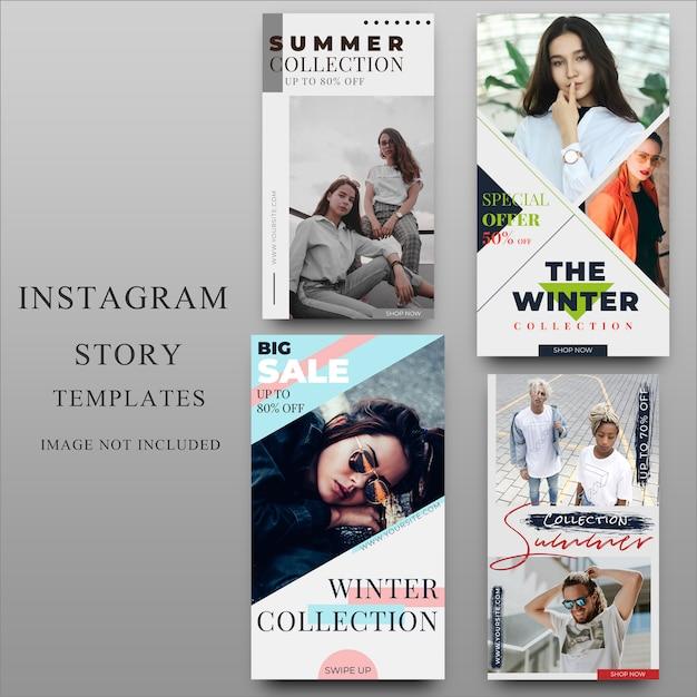 Instagramverhaal voor sociale mediasjabloon Premium Vector