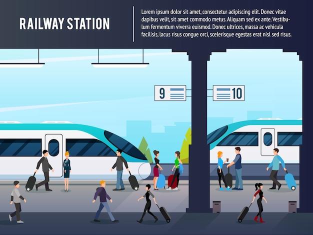 Intercity station illustratie Gratis Vector