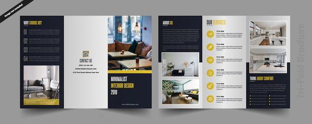 Interieur gevouwen brochure Premium Vector