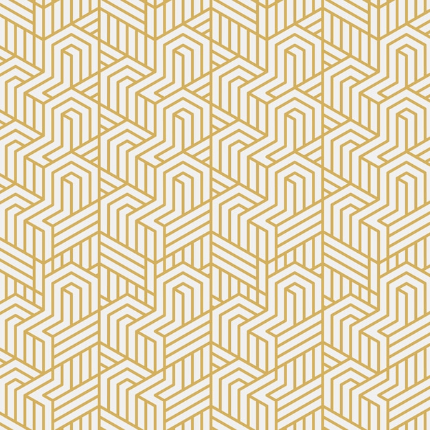 Interlacement stijlvolle patroon vectorillustratie Gratis Vector