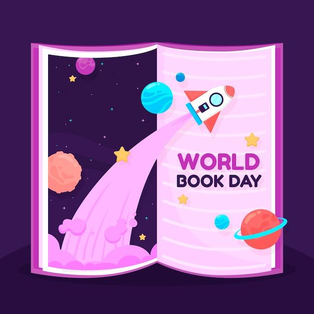 Internationale boekendag die het onmogelijke bereikt Gratis Vector